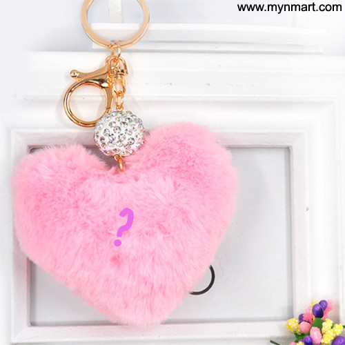 Alphabet In Pink Heart Key chain