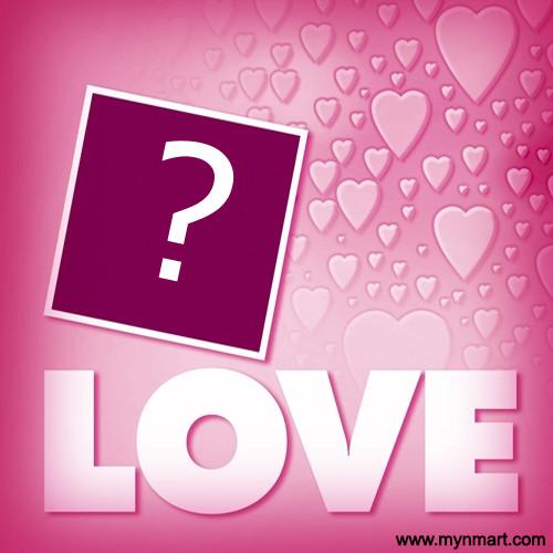 Alphabet Letter On Love Greeting Card