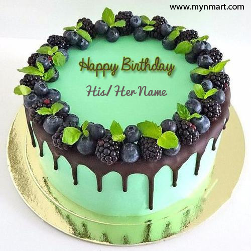 Awesome Blackberries Birthday Wishes Cake