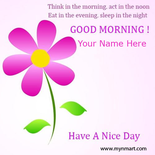 Beautiful Good Morning Greeting Card