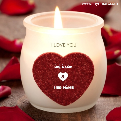 Beautiful Love Candles Couple Name