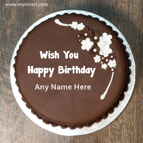 Beautiful New Birthday Chocolate Design Cake With Name