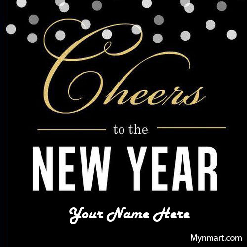 Cheers To The New Year Wishes Greeting Card With Name