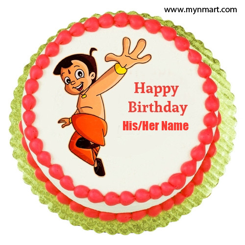 Chota Bheem Cake With Name
