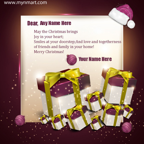 Christmas Gifts Greetings With Quote and Your Name