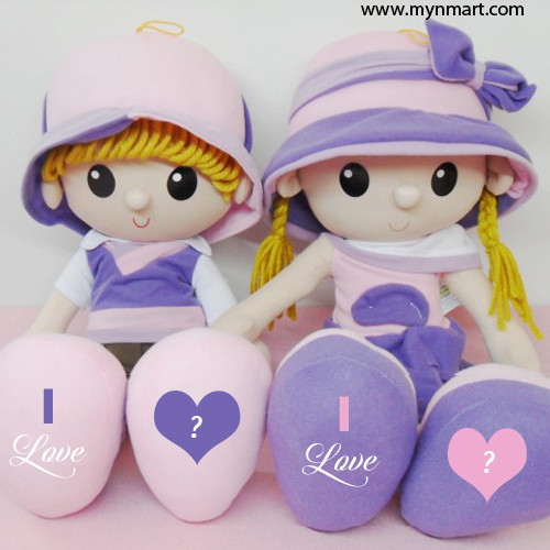 Cute Couple Doll  with Hearts profile picture