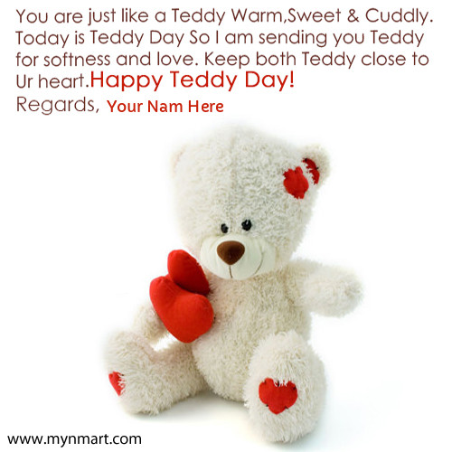 Cute Happy Teddy Day Images With Your Name