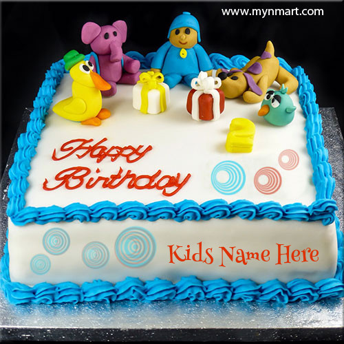 Cute Kid Birthday Cake With Name