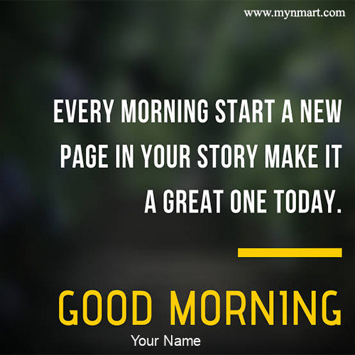 Every Morning Start a New Page