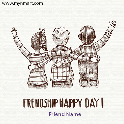 Friendship Day Greeting with Your Name 2020
