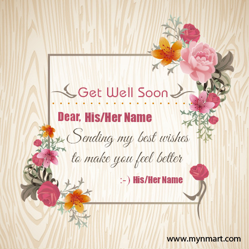 Get Well Soon Wishes Greeting Card
