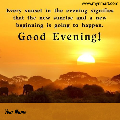Good Evening Sunset