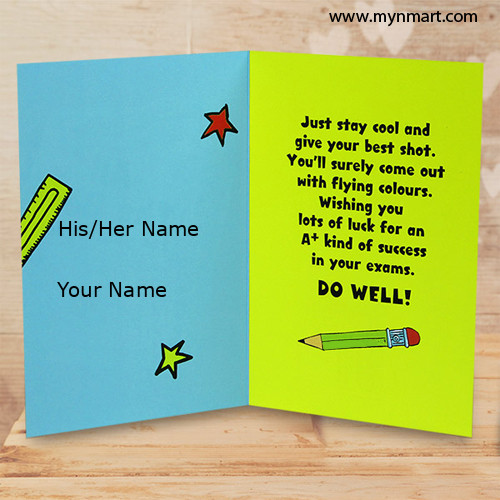 Good Luck Greeting And Quotes For Best Wishes On Exam  Exam Best Wishes Cards