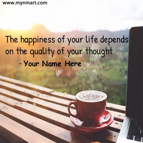 Good Morning Quotes with Inspiration Message and Coffee on Greeting Card