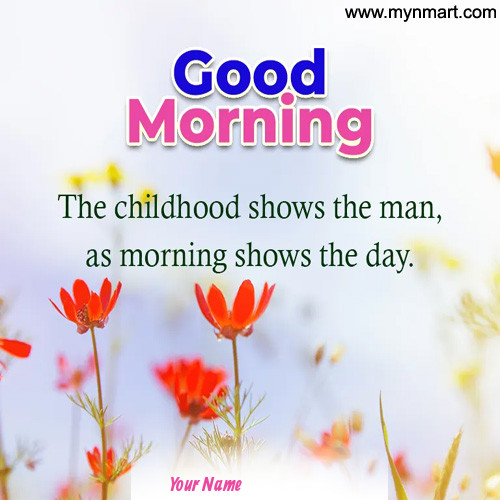 Good Morning Shows The Day