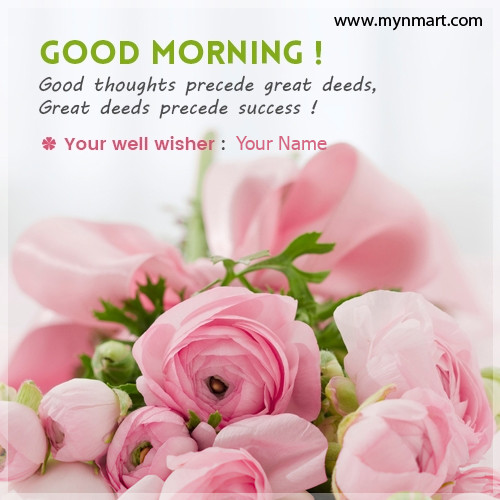 Good Morning Well Wishes Name Picture
