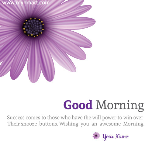 Good Morning Wish Inspirational Quotes On Greeting Card