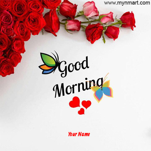 Good Morning With Beautiful Roses