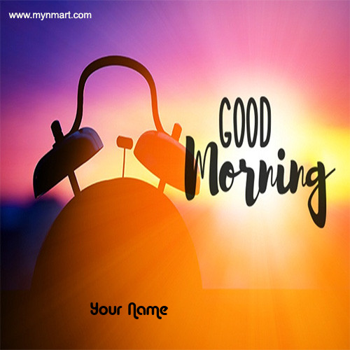Good Morning With Clock Image
