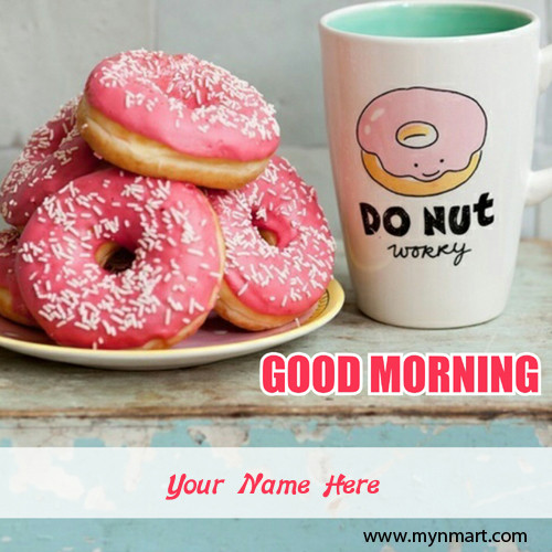 Good Morning with Donuts and coffee
