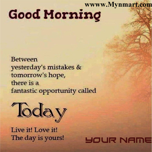 Good Morning With Hopeful Message