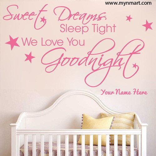 Good Night Sleep Tight We Love you greeting