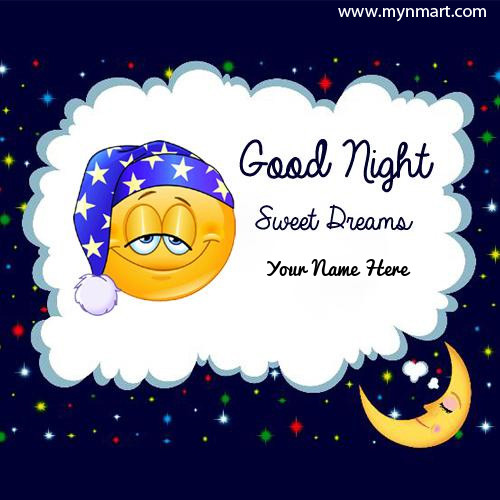 Good Night Sweet Dreams Smiley Greeting