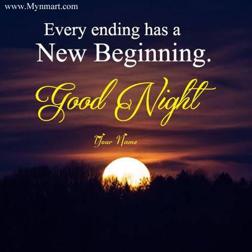 Good Night With Sunset