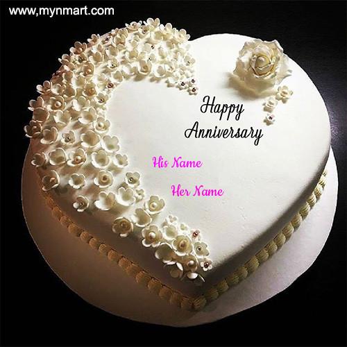 Happy Anniversary White Cake