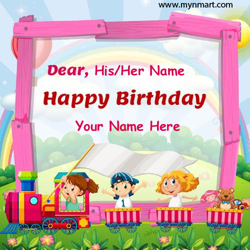 Happy Birthday Cute Kids Special Greeting With Name