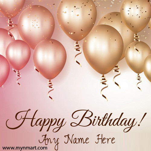 Happy Birthday Wishes Balloons Greeting Cards With Person Name