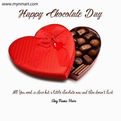 Happy Chocolate Day 2019 Greeting with name