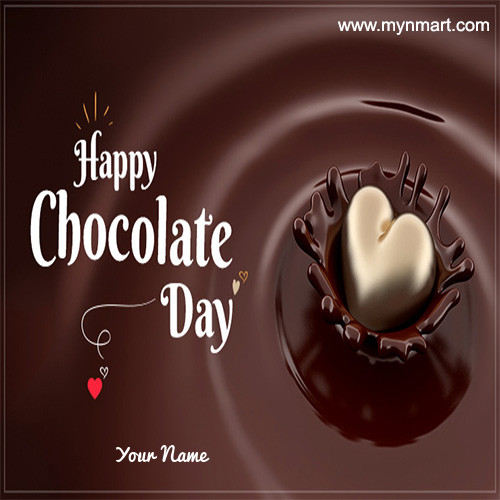 Happy Chocolate Day - Heart Chocolate