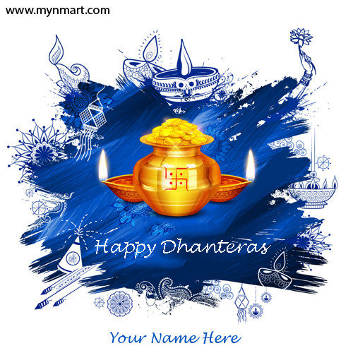 Happy Dhanteras Greeting With Your Name