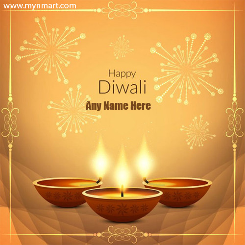 Happy Diwali Designer Greeting with Your Name