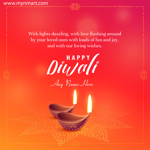 Happy Diwali Greeting With Nice Quotes With Your Name