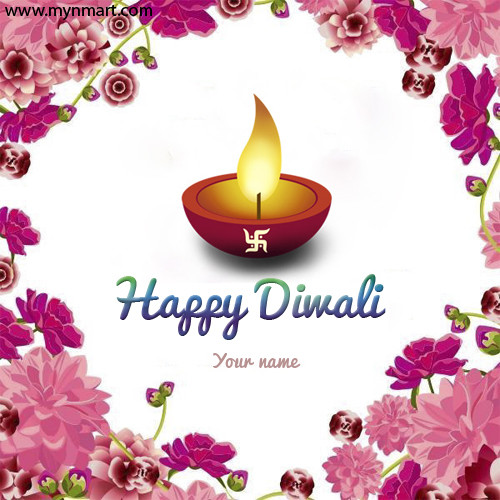 Happy Diwali Greeting With Your Name