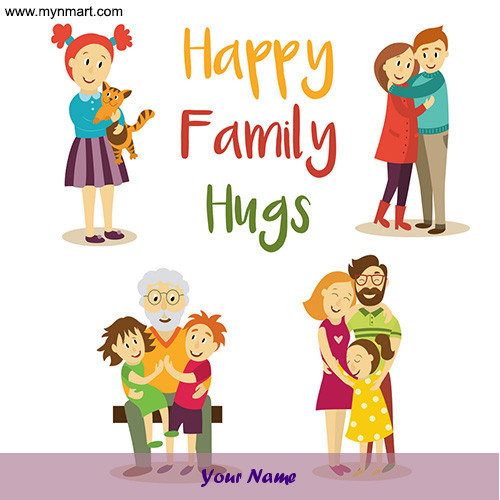 Happy Family Hugs