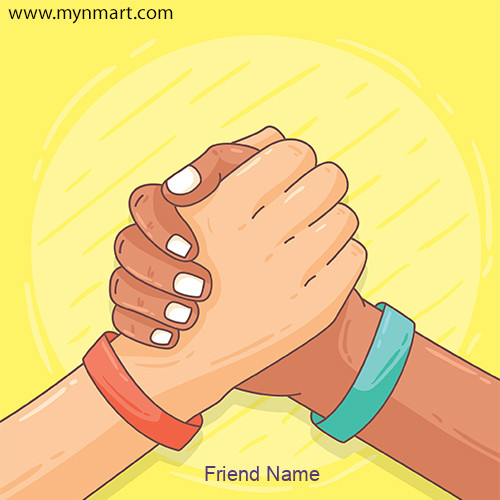 Happy Friendship Day Greeting with Your Name 2020
