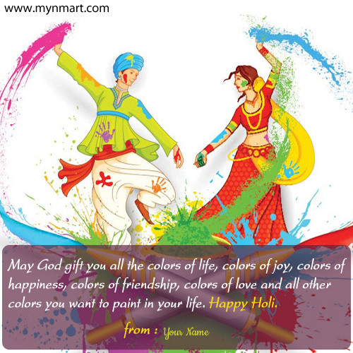 Happy Holi 2019 Greeting with Message