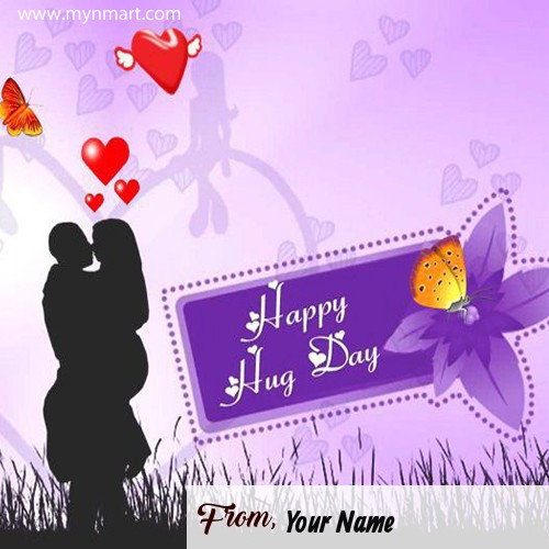 Happy Hug Day Wishes With Name