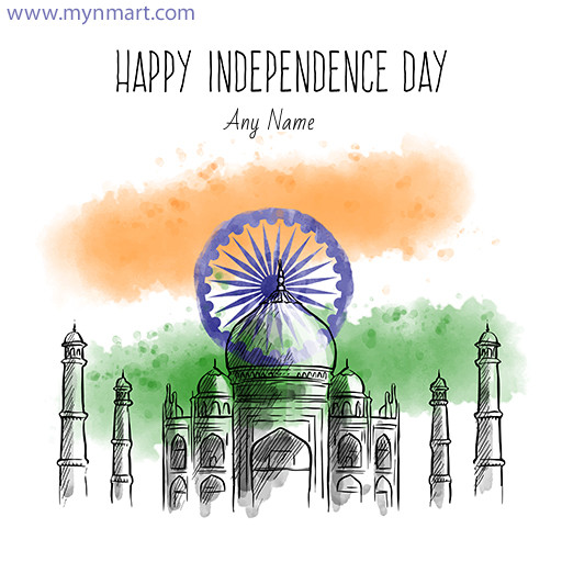 Happy Independence Day Hand Drawn Greeting 2020