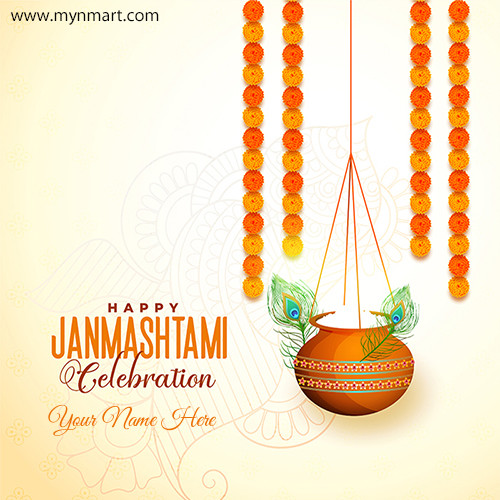 Happy Janmashtami Greeting With Design in 2020