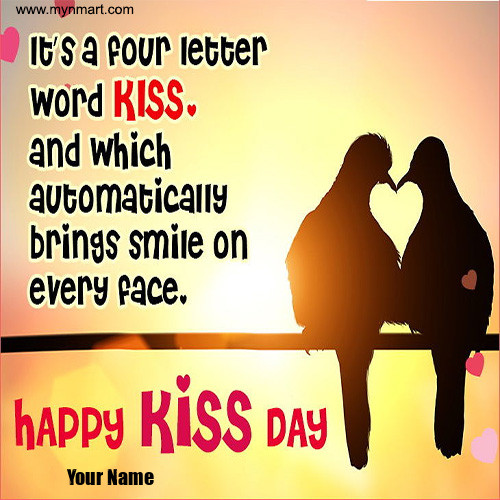 Happy Kiss Day -Love  Birds