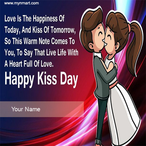 Happy Kiss Day With Lovely Message