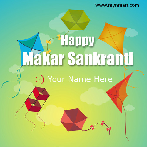 Happy Makar Sankranti kite flying