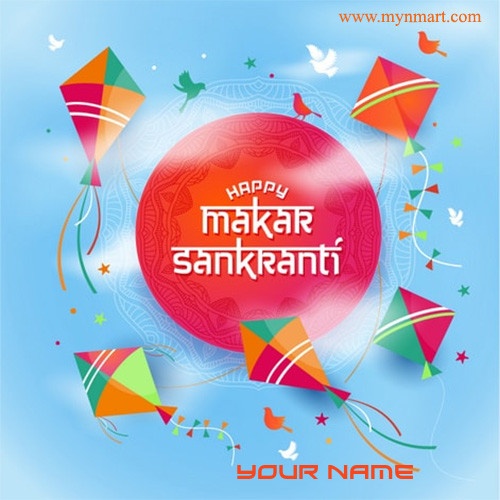 Happy Makar Sankranti With Flying Kites