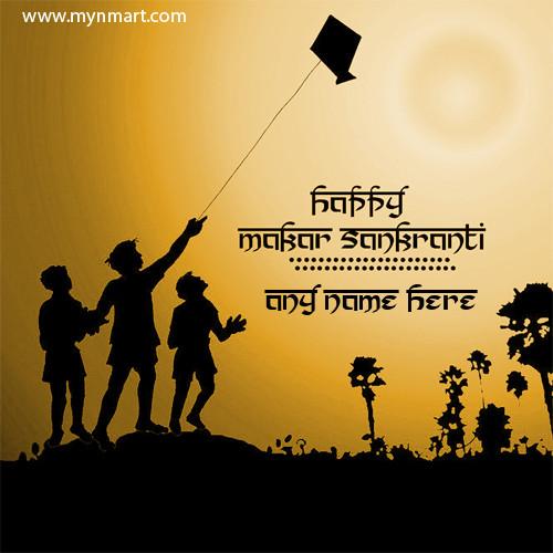 Happy Makar Sankranti With kids flying kites