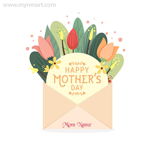 Happy Mother Day Envelope Greeting Card