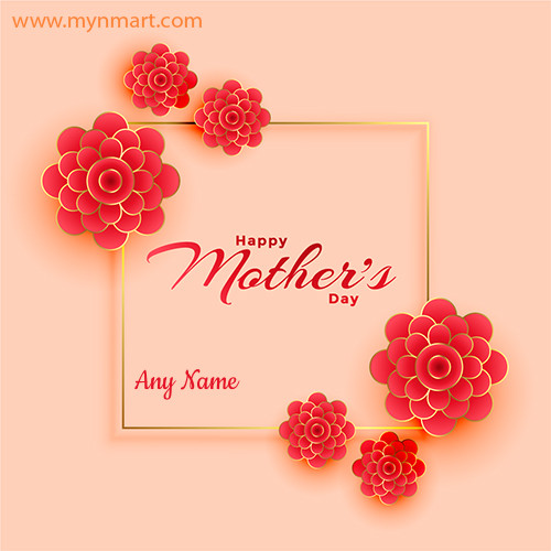 Happy Mother Day Greeting with Flower Decoration